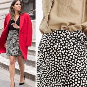 J. Crew Metallic Pebble Print Jaquard Skirt
